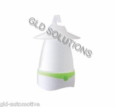 Mini Lanterna con LED 1W Bianco/Rosso con Gancio integrato per Tenda Campeggio