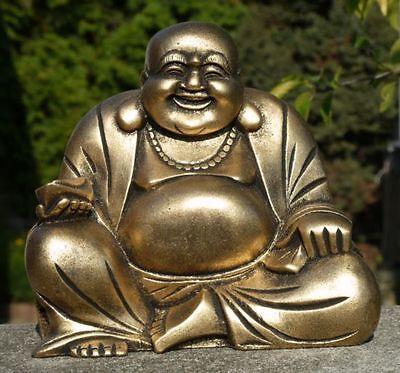 Großer Happy BUDDHA Mönch Budda Resin Garten Feng Shui Res11