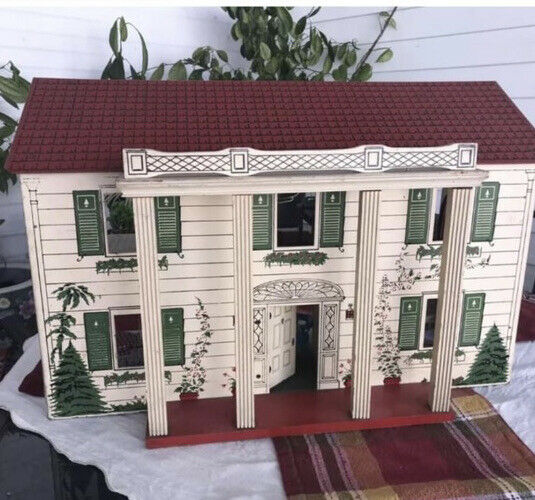 Vintage Antique 40's Rich Toy ? DollHouse Doll House Colonial 2-Story