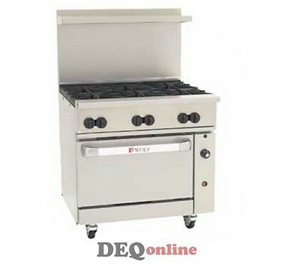 Wolf C36s-6b Challenger Xl Gas Restaurant Range 6 Open Burners 36 Wide Ng Or Lp