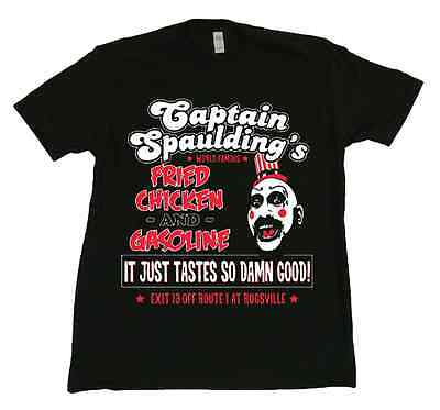 House of a Thousand Corpses Captain Spaulding t-shirt New Rob Zombie Movie - Captain Spaulding Shirt