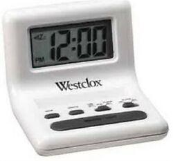 WHT CELEBRITY GLO-CLOCK .8LCD,No 47539,  Nyl Holdings Llc/Westclox