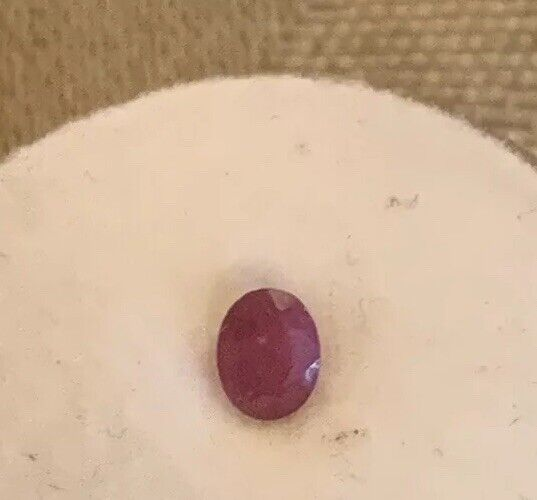 Ruby Gemstone Taken From Scraped Jewelry Tested