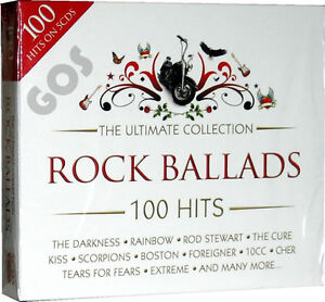 The Ultimate Rock Ballads 5 CD Original Music Compilation of 60s 70s 80s 90s on