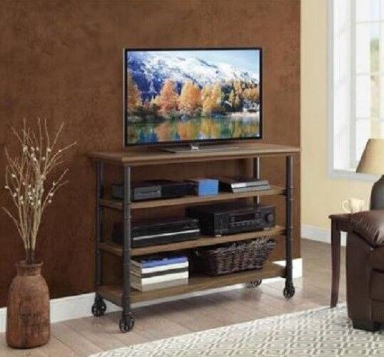 Industrial Rustic Woodgrain Console Table Tv Stand Kitchen C