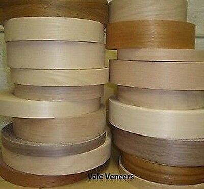 Real Wood Veneer Iron on Edging Tape/Edge Banding 22mm,30mm,40mm & 50mm