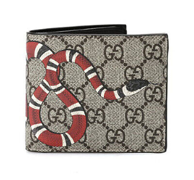 41980f799ebf21 GUCCI Wallet Brown Leather Canvas Mens Bifold 451268 K551N 8666 Womens Gift  Auth