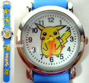 Pikachu-Pokemon-Monsters-Blue-3D-Kids-Wrist-Watch