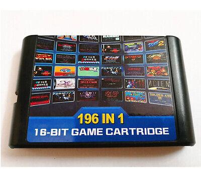 196 in 1 Multi Game Cartridge Sega Mega Drive