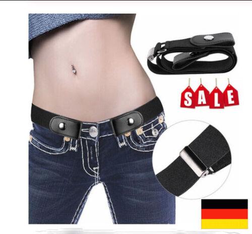 Gürtel Damen Herren Unsichtbar Elastisch Stretchgürtel ohne Gürtelschnalle 110cm