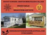 Marton mere blackpool, Halloween 30/10 mon to fri. From £275