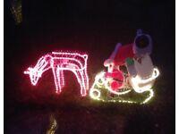 Outdoor Reindeer & Sleigh