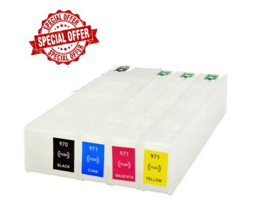 Empty refillable ink Cartridges For HP 970/971XL X576dw X476dw XL with ARC Chips