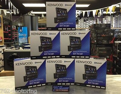 "KENWOOD KVT-7012BT  7"" TOUCHSCREEN BLUETOOTH CAR STEREO CD"