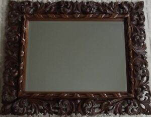HANDCARVED FLORENTINE MIRROR  FRAME Campbell River Comox Valley Area image 1