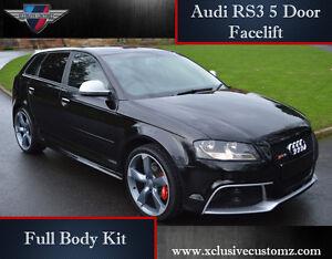 audi rs3 5 door body kit for audi a3 8p 2010 onwards. Black Bedroom Furniture Sets. Home Design Ideas