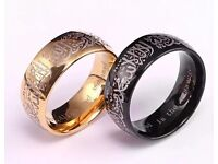 Beautiful gold plated islamic rings