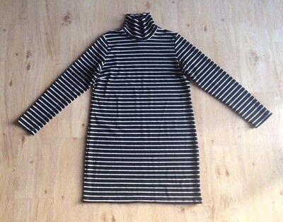 NIEUW! VILA Tinny jurk gestreept zwart/wit maat XL