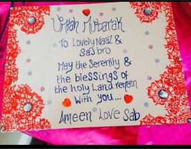 Personalised canvases and candles//mehndi//any ocassion