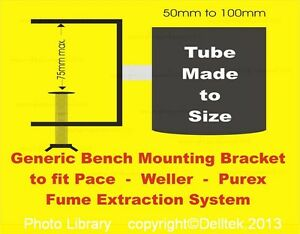 Generic-ESD-Bench-Mounting-Bracket-Pace-Weller-Purex-Soldering-Fume-Extraction