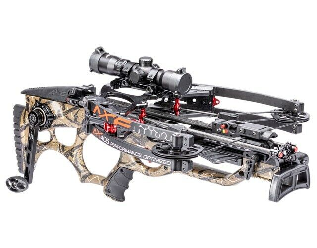 """Axe Crossbows AX40001 AX405 Package Black 27.75""""-32"""" Includes Multi-Range Scope"""