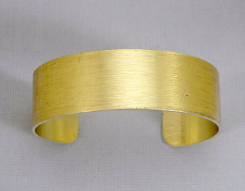 "Gold Anodized Aluminum Cuff Bracelet Blanks, 3/4"" x 6"", one dozen"