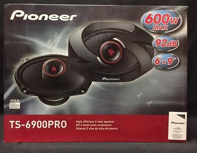"NEW PIONEER TS-6900PRO 6"" X 9"" 2-WAY PRO COAXIAL SPEAKERS W/ GRILLES"