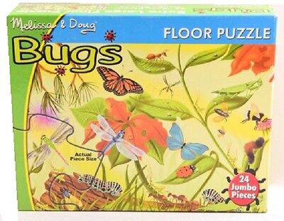 Melissa and Doug Bugs Floor Puzzle 48 pieces #0420 #420 New