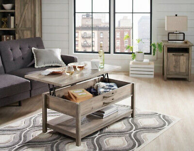Better Homes and Gardens Modern Farmhouse Lift-Top Coffee Table, Rustic