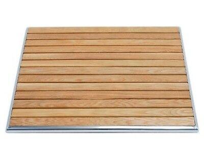 Mesa piscina 60x60 en madera y aluminio RS8663