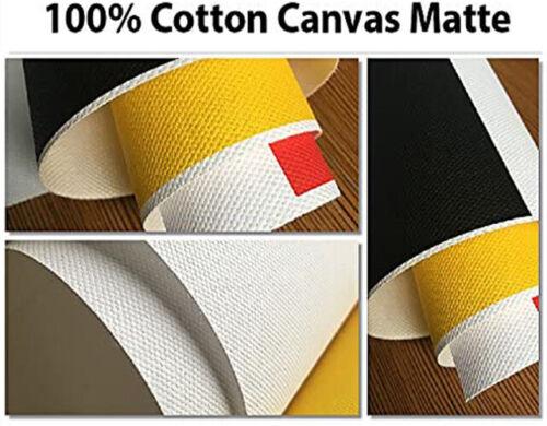 "24""x40 ft 100% Cotton Digital Inkjet Matte Canvas Roll for Wide Format Printing"