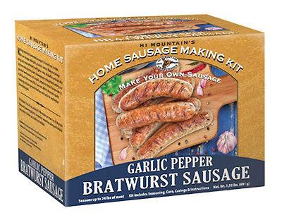 Hi Mountain Jerky Garlic Pepper Bratwurst Sausage Making Kit -Homemade Brats - Hi Mountain Sausage