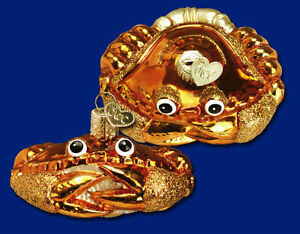 Old World Christmas Crab Louie Ornament, New In Box