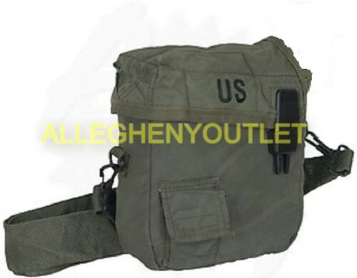 Lot of 2 US Military 2 Quart Canteen Cover Pouch, Insulated, OD Green 2 QT MINT