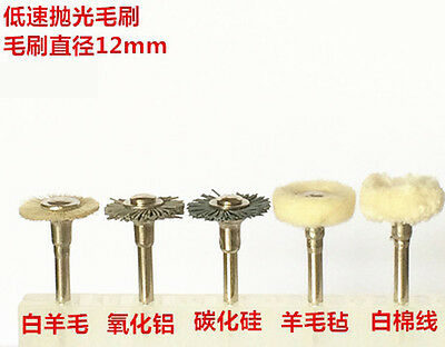 10pcs Dental Cotton Wool Alumina Silicon Carbide Polisher Brush Polishing Wheel