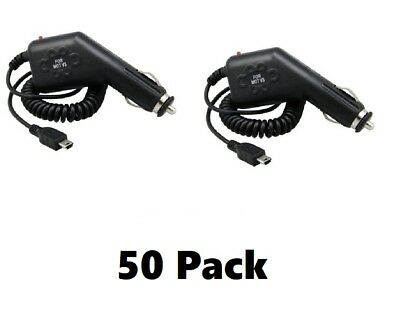 V3 Mini USB car Chargers (50 Pack) for TomTom GPS Navigation Systems