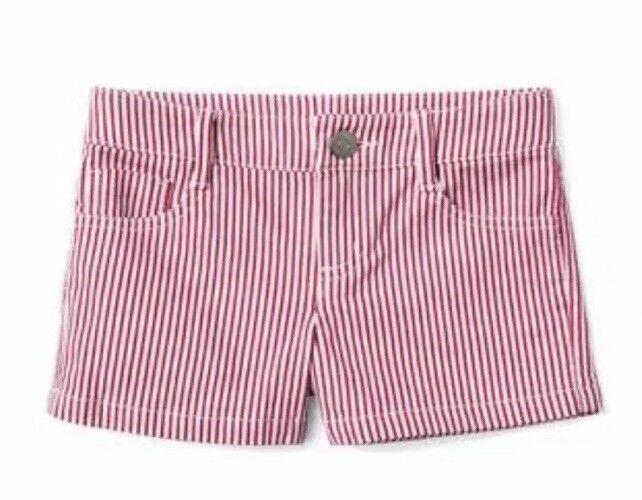 Gymboree Girls Americana Shop Fourth Of July Stripe Shorts Red White Nwt Size 8