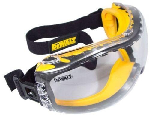 Dewalt Safety Goggles Eye Protective Over Glasses Concealer Clear Anti-Fog