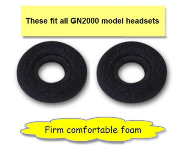 10 pc Leatherette Doughnut Ear Cushion for Jabra GN Netcom 2010 2015 2020 /& 2025
