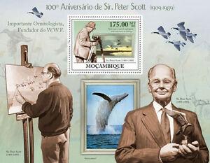 Sir Peter Scott Ornitologist WWF founder Mozambique 2009 MNH Sc.1927 #MOZ9226b - Olsztyn, Polska - Sir Peter Scott Ornitologist WWF founder Mozambique 2009 MNH Sc.1927 #MOZ9226b - Olsztyn, Polska