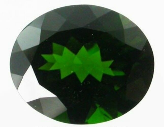 CHROME DIOPSIDE 15 x 12 MM OVAL CUT OUTSTANDING GREEN COLOR ALL NATURAL