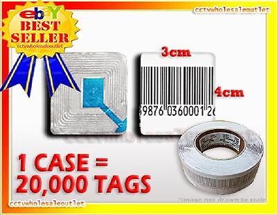 20000 Checkpoint Compatible Barcode Label Tag 8.2mhz 3cm X 4cm Fake Barcode