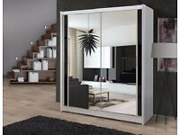 BRAND NEW == GERMAN MADE MIRROR SLIDING DOOR WARDROBE IN MULTIPLE COLOR OPTIONS -SAME DAY DELIVERY