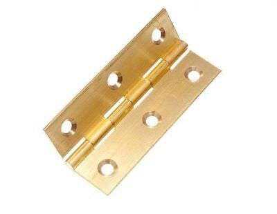- 12 OF BUTT HINGES EXTRUDED SOLID BRASS 63MM: 2 1/2 INCH PLUS SCREWS 11G4