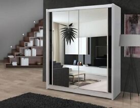 💖💖DISCOUNTED OfferBRAND NEW GERMAN MADE FULLY MIRROR SLIDING DOOR WARDROBE + SAME DAY DROP
