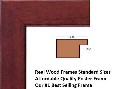 Brown Solid Wood Picture Frame Poster Frame 11x14 11x17 18x20 22x34  24x36 27x40