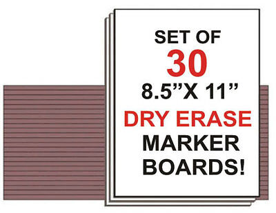 Student Dry Erase Boards - Dry Erase Boards Class Student Lapboard Note Study Lap Whiteboard set of 30