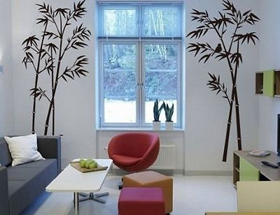 Bamboo Mural Removable DIY Art Wall Decals Stickers Art Home Room Vinyl Decor - Bamboo Wall Murals