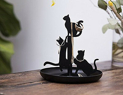 Kikkerland BLACK CATS Jewelry Stand for earrings,ring,necklace,bracelet JK14