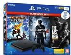Playstation 4 Slim (Black) 1TB + Ratchet & Clank + Unchar...